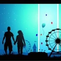 L'animatore in un parco divertimenti o in un parco acquatico