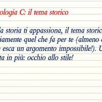Tipologia C: il tema storico