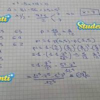 Soluzione quesito 1 simulazione matematica