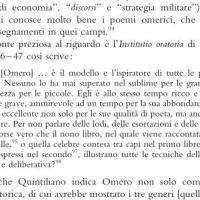 La versione di Quintiliano: libro X par. 46