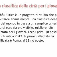La classifica Youthful Cities