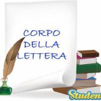 Il corpo della lettera
