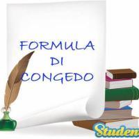 Formula di congedo