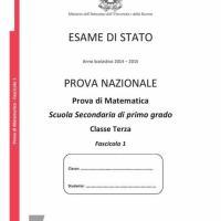 Fascicolo test invalsi di matematica 2015
