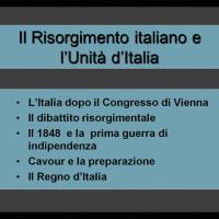 Risorgimento italiano e unità d'Italia