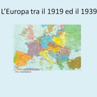Europa tra il 1919 ed il 1939