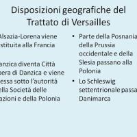 Geografia del trattato di Versailles