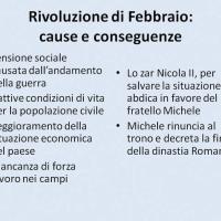 Cause e conseguenze della rivoluzione
