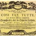 2 Gennaio 1790: prima dell'opera Cosi fan tutte di Mozart