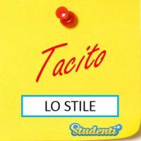 Versione di latino, lo stile di Tacito