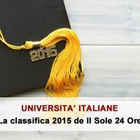 Classifica delle migliori università statali 2015 del Sole 24 Ore