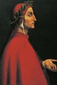 Ritratto di Dante Alighieri, per un periodo amico di Cecco Angiolieri