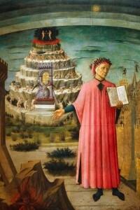 Dante con in mano la Divina Commedia, dipinto di Domenico di Michelino