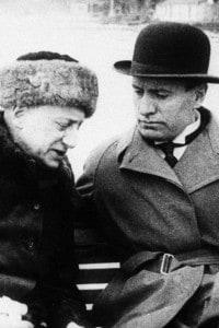 D'Annunzio con Mussolini in barca nel 1925