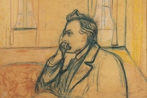 Il flosofo Friedrich Nietzsche ritratto da Edvard Munch