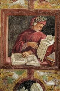 Luca Signorelli, Ritratto di Dante Alighieri. Cappella di San Brizio alla Cattedrale di Orvieto