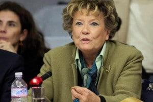 Dacia Maraini durante una conferenza