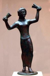 Statuina etrusca in bronzo