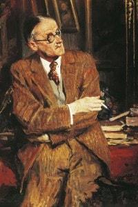 Ritratto dello scrittore irlandese James Joyce, con cui Svevo strinse una lunga amicizia.