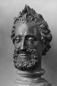 Testa in bronzo di Enrico IV, conservata al Museo del Louvre