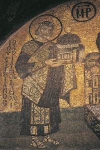 Giustiniano, dettaglio di un mosaico
