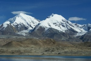 Lago Karakul, nell'altopiano del Pamir