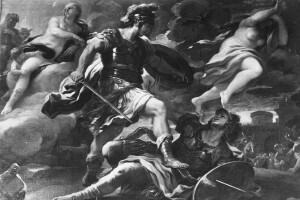 Enea vincitore su Turno, opera di Luca Giordano