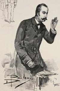 Il Primo Ministro Giovanni Giolitti durante la sua interpellanza relativa allo scandalo della Banca Romana