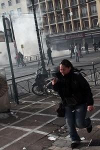 Violenza in Grecia durante la crisi del 2009
