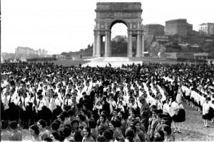 Manifestazione celebrativa dell'anniversario della Marcia su Roma