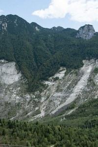 Il Monte Toc nel Vajont