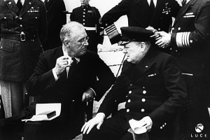 Franklin Delano Roosevelt e Winston Churchill