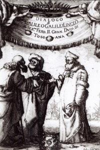 """Frontespizio del """"Dialogo sopra i due massimi sistemi del mondo"""", pubblicato nel 1632"""