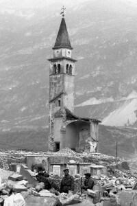 Longarone distrutto dal crollo della diga del Vajont, il 24 ottobre 1963