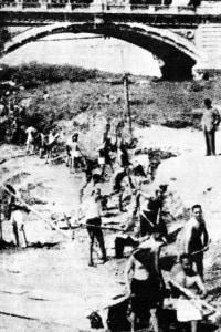 Roma 1943: ebrei del ghetto al lavoro sul fiume Tevere