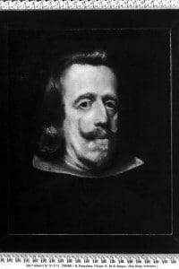 Ritratto di Filippo IV, re di Spagna. Opera di Velazquez
