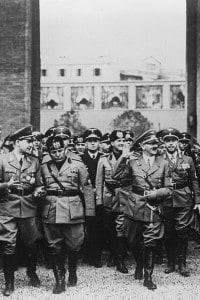 Mussolini e Hitler il 5 maggio del 1938 a Roma