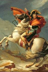 Napoleone attraversa le Alpi il 20 maggio 1800. Dipinto di Jacques Louis David