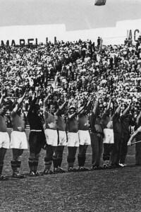 Il saluto fascista ai Mondiali del 1934 a Roma