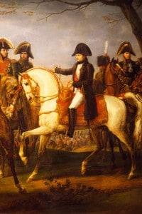 Napoleone ordina l'attacco nella  battaglia di Austerlitz