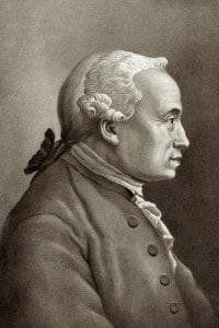 Ritratto del filosofo Immanuel Kant