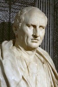 Busto in marmo di Marco Tullio Cicerone