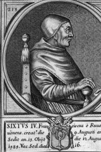 Papa Sisto IV. Fu papa dal 1471 al 1484