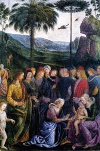 Circoncisione del figlio di Mosè, affresco del Perugino situato nella Cappella Sisitina