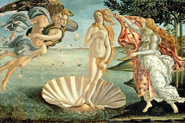 """""""Nascita di Venere"""" di Sandro Botticelli, Galleria degli Uffizi, Firenze"""