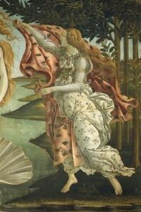 Figura dell'Ora della primavera sulla destra del dipinto
