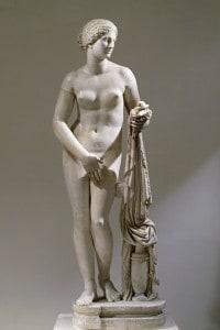 Copia in marmo di Afrodite Cnidia dello scultore greco Prassitele, IV secolo a.C.
