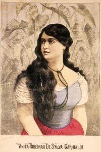 Ritratto di Ana Maria de Jesus Ribeiro da Silva, la moglie di Giuseppe Garibaldi