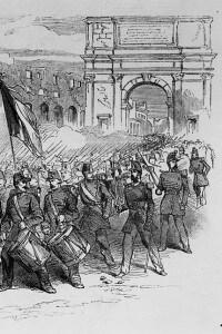 Soldati francesi della Legione romana a Roma dopo l'assedio, il 23 giugno del 1849