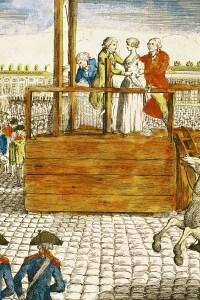 Esecuzione di Maria Antonietta, moglie del re Luigi XVI